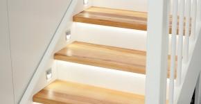 Автоматическая светодиодная подсветка лестницы от компании Stairsled фото