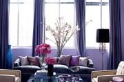 Фото 17 Фиолетовые шторы в интерьере: особенности настроения и выбор оттенков