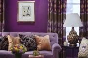 Фото 10 Фиолетовые шторы в интерьере (60+ фото): особенности настроения и выбор оттенков
