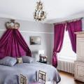 Фиолетовые шторы в интерьере: особенности настроения и выбор оттенков фото