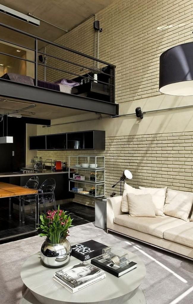 Двухэтажное жилье с объединенным нижним пространством