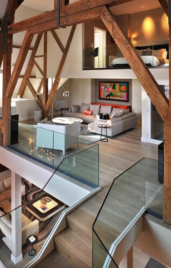 Уютная трехуровневая квартира