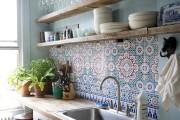 Фото 23 Керамическая плитка для кухни на фартук: особенности выбора и оформления