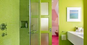 Двери для туалета и ванной комнаты (44 фото): особенности установки, подбор конструкции и материалов фото