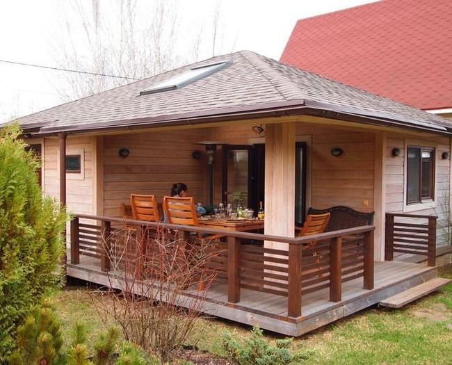 Баня-гостевой дом создаст оптимальный уровень автономности гостей и хозяев