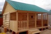 Фото 11 Баня с беседкой под одной крышей (проекты, фото): выгодно, функционально и эстетично