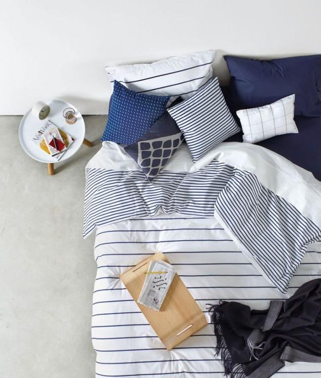 Легкость, воздушность, глубина - в спальне цвета индиго приятно начинать новый день