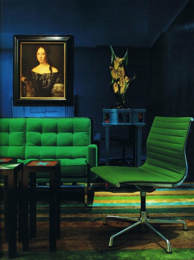 Роскошное сочетание индиго и изумрудно-зеленого - для настоящих гурманов