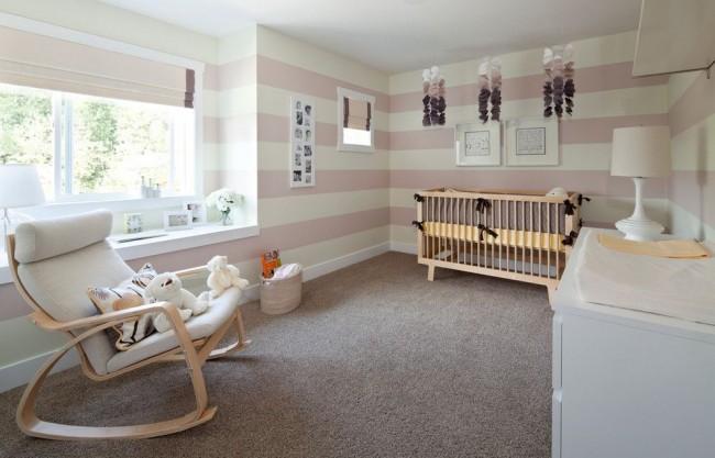 Цвет авйори в сочетании с розовым пудровым - гармоничная палитра для детской комнаты