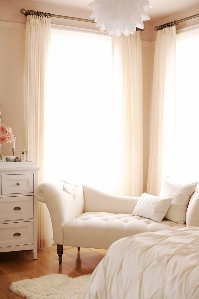 """""""Воздушная"""", очаровательная спальня цвета розового айвори"""