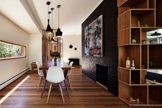 Слоновая кость - идеальный фон для респектабельной деревянной мебели