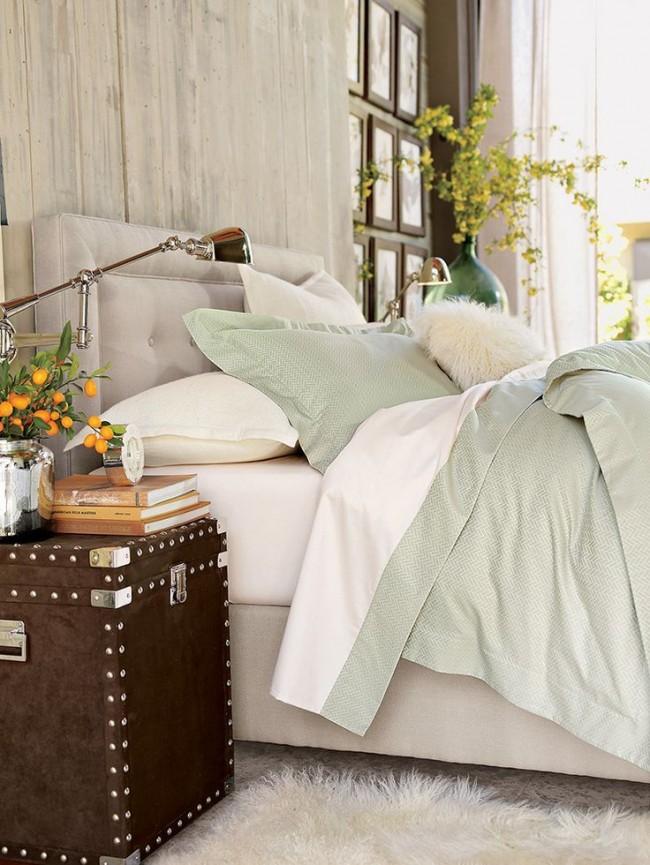 Домашний уют и тепло в спальне цвета слоновой кости