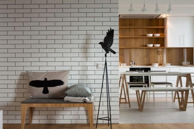 Декоративная плитка под кирпич для внутренней отделки позволит получить декоративный эффект кирпичной кладки