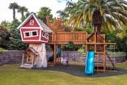 Фото 2 Детская площадка на даче своими руками (56 фото): безопасно, весело и полезно