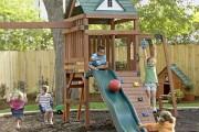 Фото 9 Детская площадка на даче своими руками (56 фото): безопасно, весело и полезно