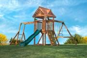 Фото 5 Детская площадка на даче своими руками (56 фото): безопасно, весело и полезно