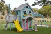 Фото 15 Детская площадка на даче своими руками (56 фото): безопасно, весело и полезно