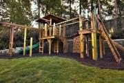 Фото 21 Детская площадка на даче своими руками (56 фото): безопасно, весело и полезно
