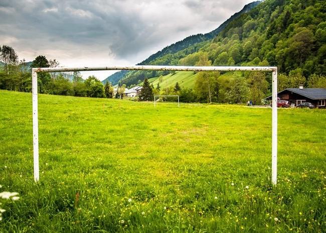 Футбольное поле станет интересным не только детям, но и взрослым