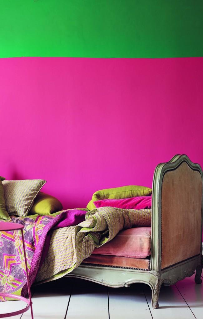 Яркий розовый + сочный зеленый - невероятное жизнерадостное сочетание