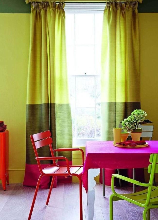 Фуксия с зеленым создают настроение легкости и беззаботности