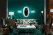 Фото 2 Изумрудный цвет в интерьере (72 фото): благородство и изысканность