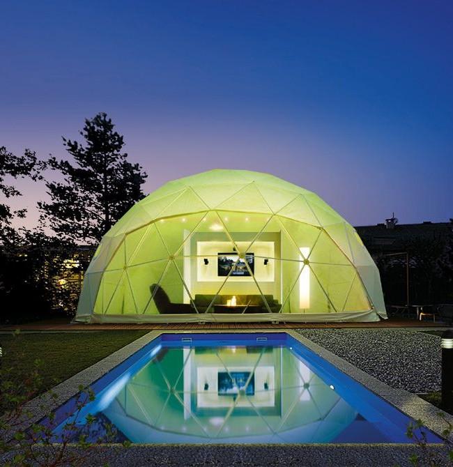 Летний купольный дом