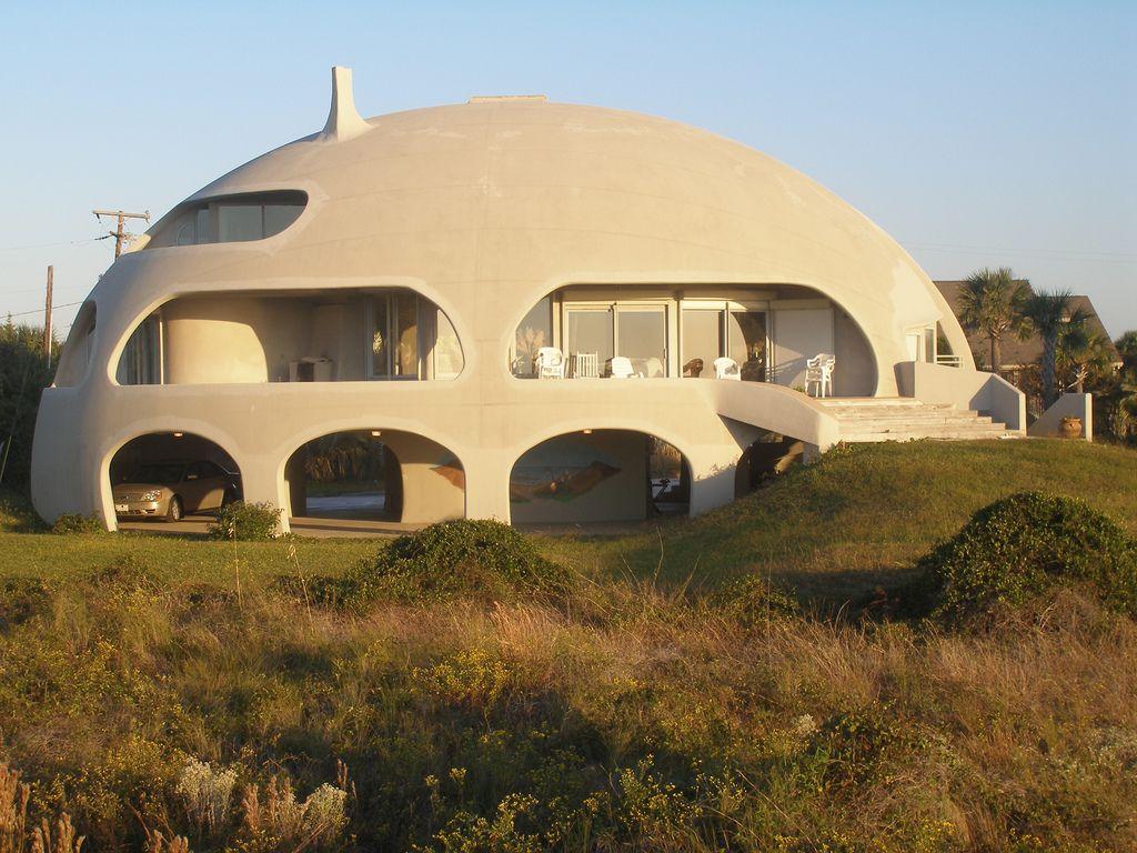 Монолитный купольный бетонный дом