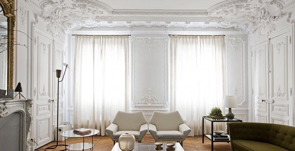 Лепнина в дизайне интерьера квартиры