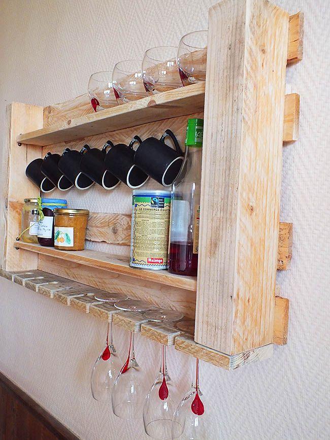 Полочка для кухни из паллет