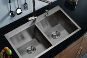 Фото 1 Мойка для кухни из нержавеющей стали (70+ фото): как выбрать идеальную модель для кухни?