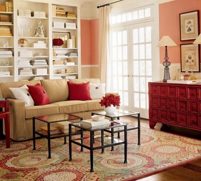 Яркие контрастные цвета способствуют полному раскрытию персиковых оттенков