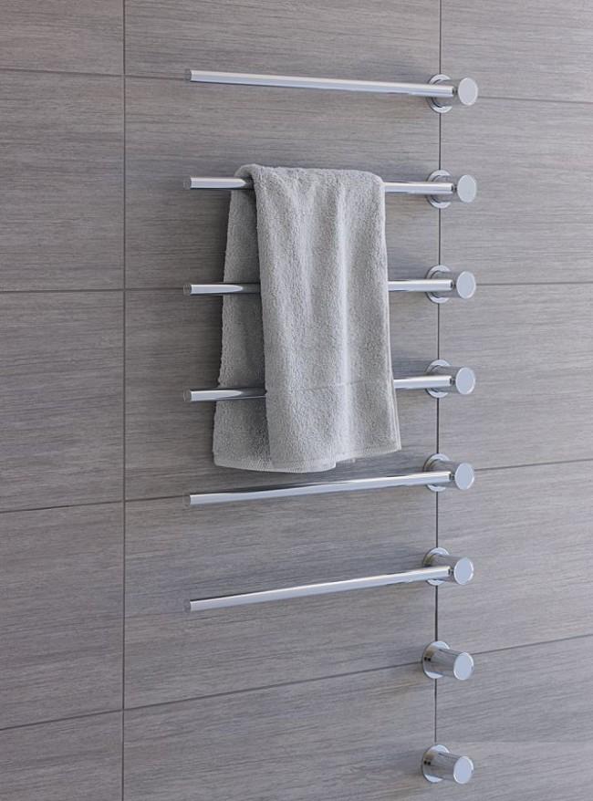 Минималистичный хромированный полотенцесушитель - идеалньая модель для стиля хай-тек