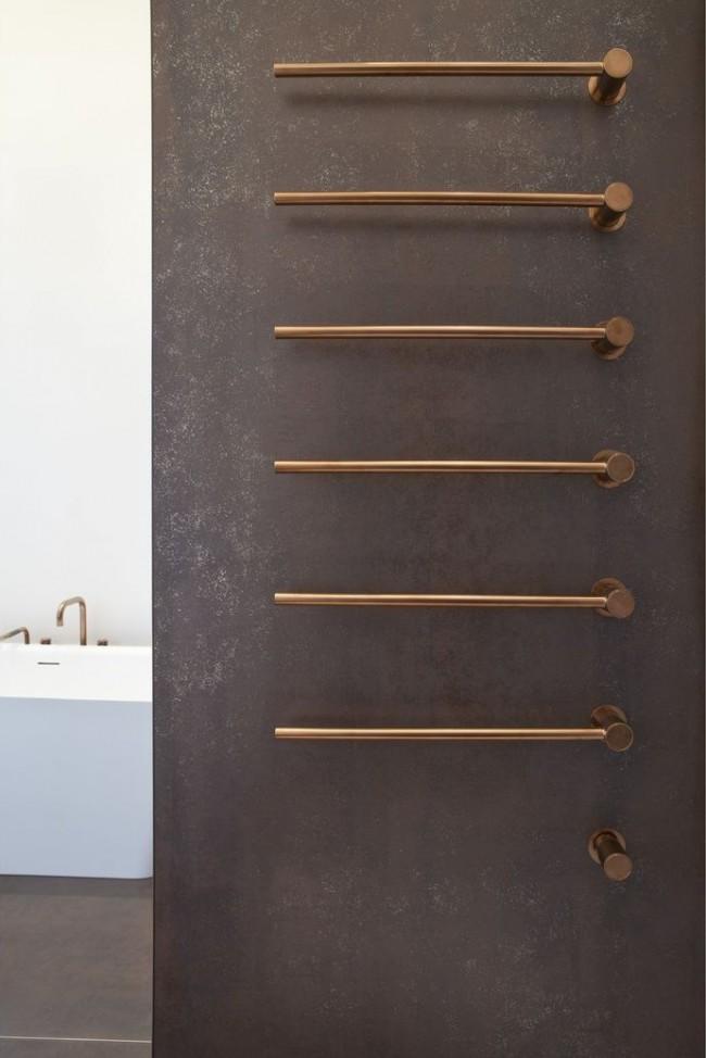 Медный полотенцесушитель - оригинальный и практичный вариант для современной ванной
