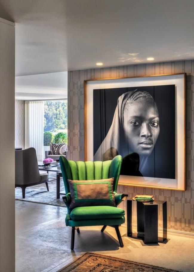 Портрет африканки помогает создать особую этно-атмосферу