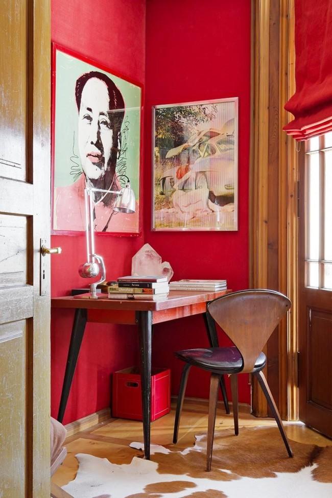 Простая цветовая обработка поможет преварить любой портрет в стильнуб деталь интерьера