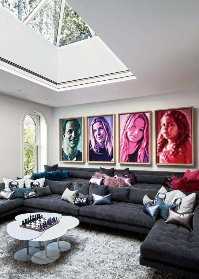 Семейные портреты с пиксельной стилизацией