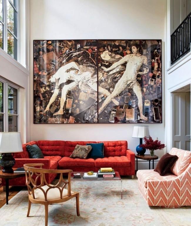 Постер - панно отлично смотрится в просторной квартире