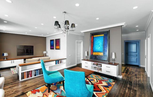 LED светильники в квартире в стиле китч