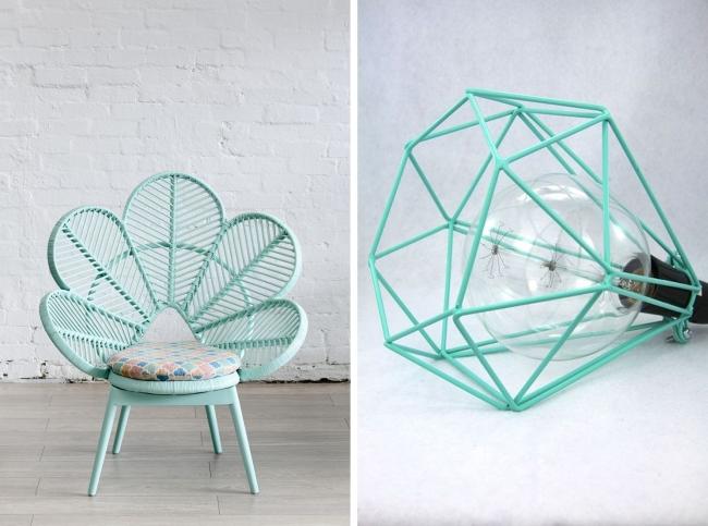 Мятный цвет ожидаемо стал любимчиком многих в предметном и интерьерном дизайне