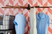 Фото 4 Сушилки для белья настенные (48 фото): раздвижные, стационарные и другие варианты