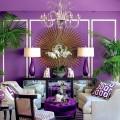 Лиловый цвет в интерьере (56 фото): тонкости значения и использования фото