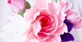 Цветы из гофрированной бумаги своими руками: мастер-классы и советы фото