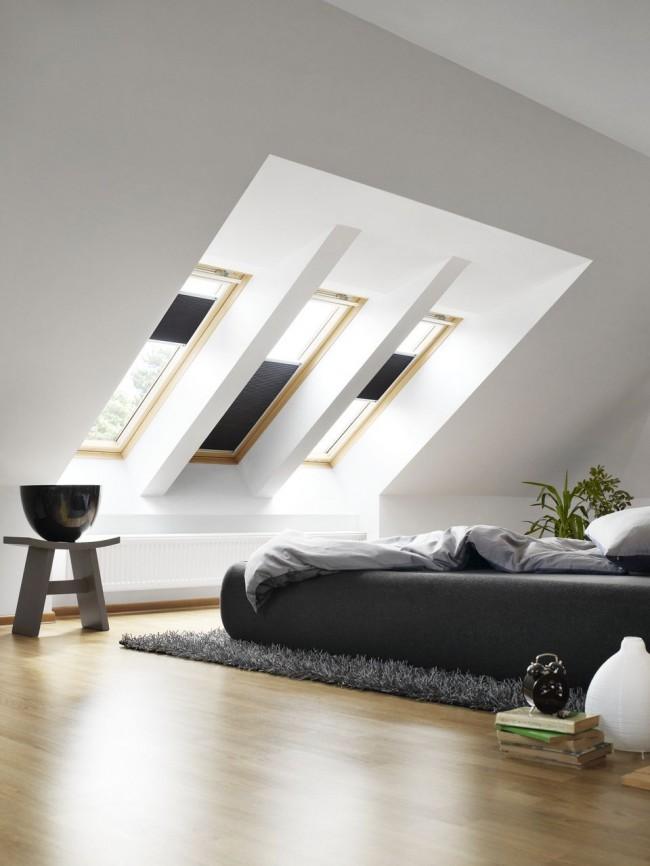 Мансардный этаж. Спальня с видом на звездное небо