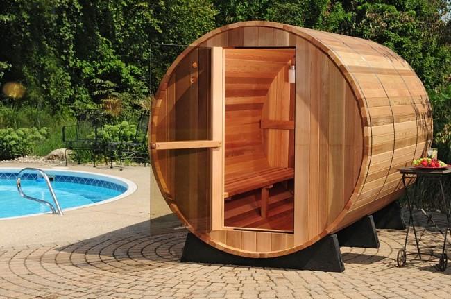 Баня-бочка - оригинальное изобретение соседей-северян финнов