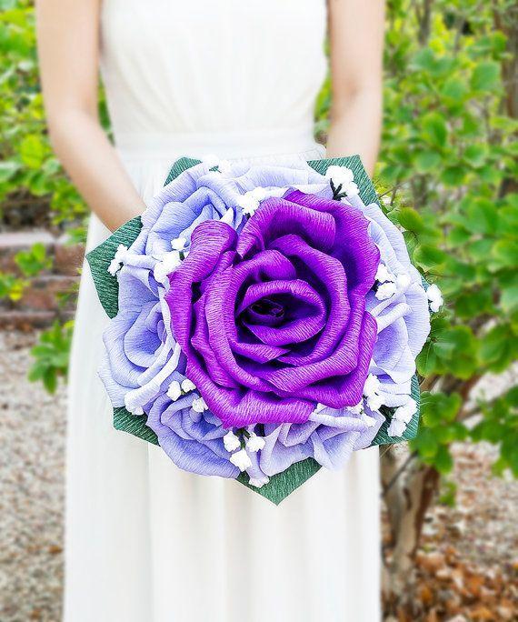 Роскошный букет невесты из гофробумаги - креативное и яркое решение
