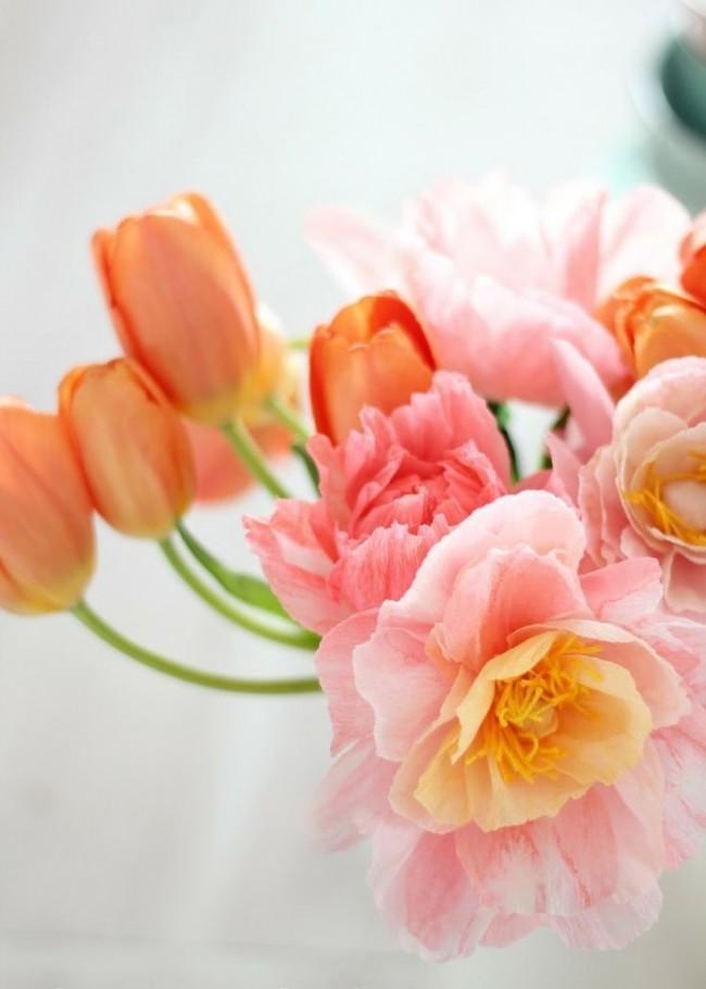 Букет из гофробумаги - яркая и практичная альтернатива живым цветам