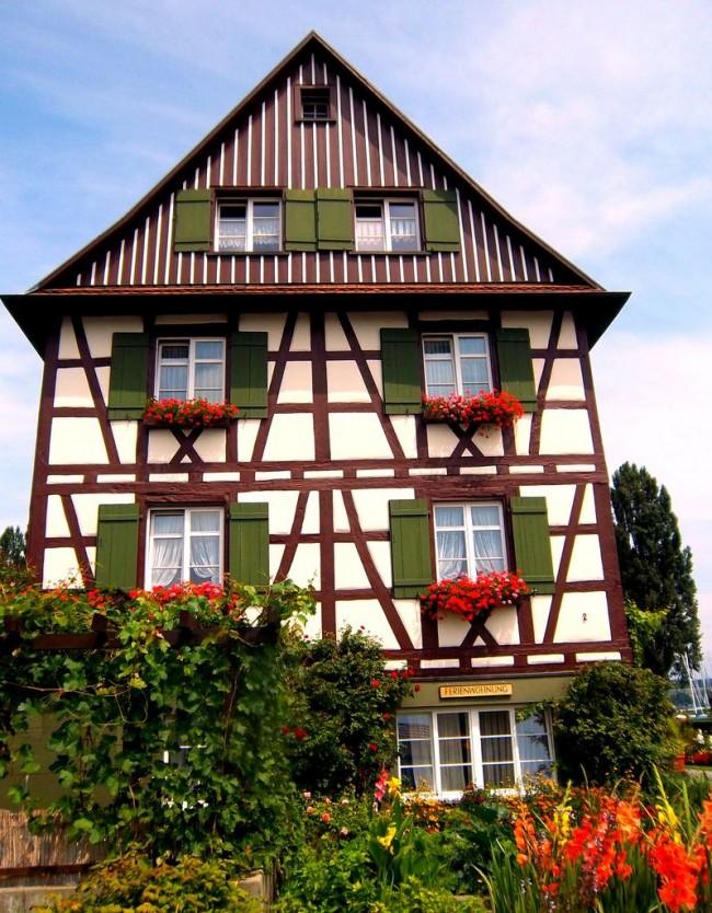Классический немецкий фахверковый дом
