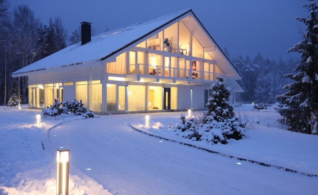 Фахверковая конструкция придает дому особый шарм