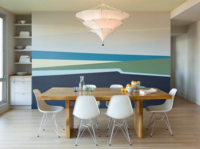 Фреска на кухне в стиле модернизм